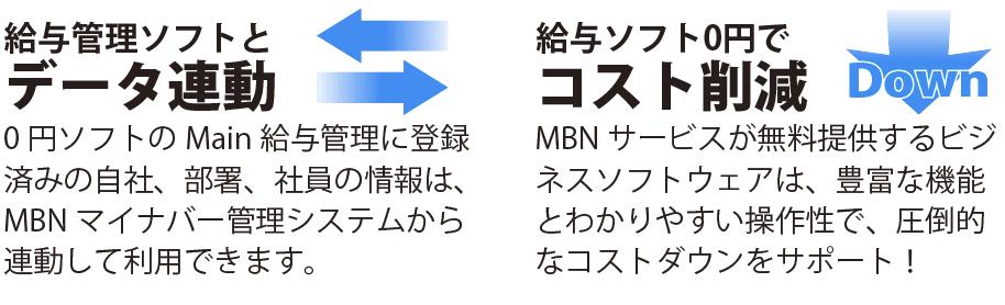 給与管理ソフトとデータ連動、給与ソフト0円でコスト削減